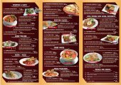 Ala carte Menu